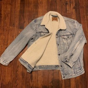 Levi's Denim Shearling Coat